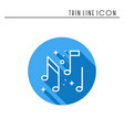 music notes icon disco dance nightlife club vector image vector image