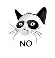 NO cat vector image vector image