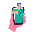 on-line doctor appointment app online services vector image