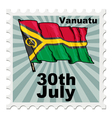post stamp of national day of Vanuatu vector image vector image