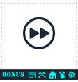 rewinding icon flat vector image vector image