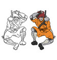 samurai draw vector image vector image