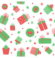 seamless pattern with cute gift boxes vector image