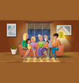senior couple spending time with children vector image vector image