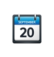 September 20 Calendar icon vector image vector image