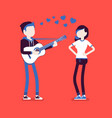 serenade dating couple vector image
