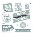 set back to school logos vector image