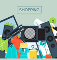 shopping mall banner in flat design vector image vector image