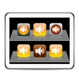 Sound orange app icons vector image vector image
