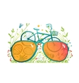 Summer Bicycle Sunglasses Recreation in Nature vector image vector image
