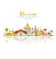 thailand tourism festival building landmark vector image