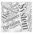 Understanding Your Operating System Word Cloud vector image vector image