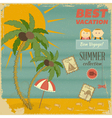 vacation card in retro style vector image vector image