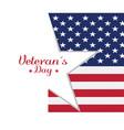 veteran day background vector image vector image