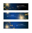 website header or banner set abstract design vector image