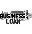 what to do if your business loan is not approved vector image vector image