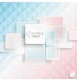 White Square Element vector image vector image