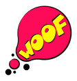 woof sound effect icon cartoon style vector image vector image
