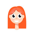 young girl with big black eyes orange hair vector image vector image