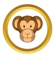 Monkey head icon cartoon style vector image