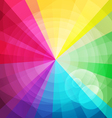 Rainbow bright background with rays2 vector image