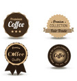 coffee beverage badge and label flat logo vintage vector image