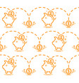 seamless pattern with piggy bank vector image