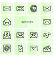 14 envelope icons vector image vector image