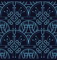 abstract art techno seamless modern tiles pattern vector image