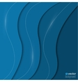Abstract background of blue paper strips and vector image