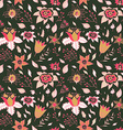 Abstract Elegance seamless floral pattern Seamless vector image