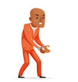 afro european african american prisoner caught vector image vector image