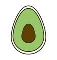 avocado fresh isolated icon vector image