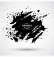 black ink style splash blob and stain brushes and vector image