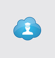 Blue policeman icon vector image vector image
