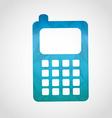 cellphone icon vector image vector image