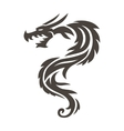Chinese dragon on white background vector image vector image
