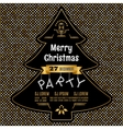 christmas party poster abstract gold vector image