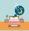 color background of bedroom with dreaming in the vector image vector image