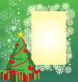 color christmas tree vector image