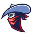 cowboy bandit mascot vector image vector image