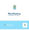 creative id card logo design flat color logo vector image