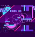 cyberpunk seamless pattern retro futurism the vector image vector image