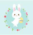 easter egg hunt poster cute rabbit invitation vector image vector image