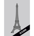 Eiffel Tower black Mourning Ribbon November 13 vector image vector image