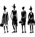 fast hand-drawn fashion sketch with models vector image vector image