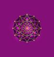 flower life symbol gold mandala sacred geometry vector image vector image