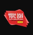 geometric mega sale banner vector image vector image