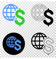 global business eps icon with contour vector image