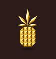 golden glitter jewelry pineapple vector image vector image
